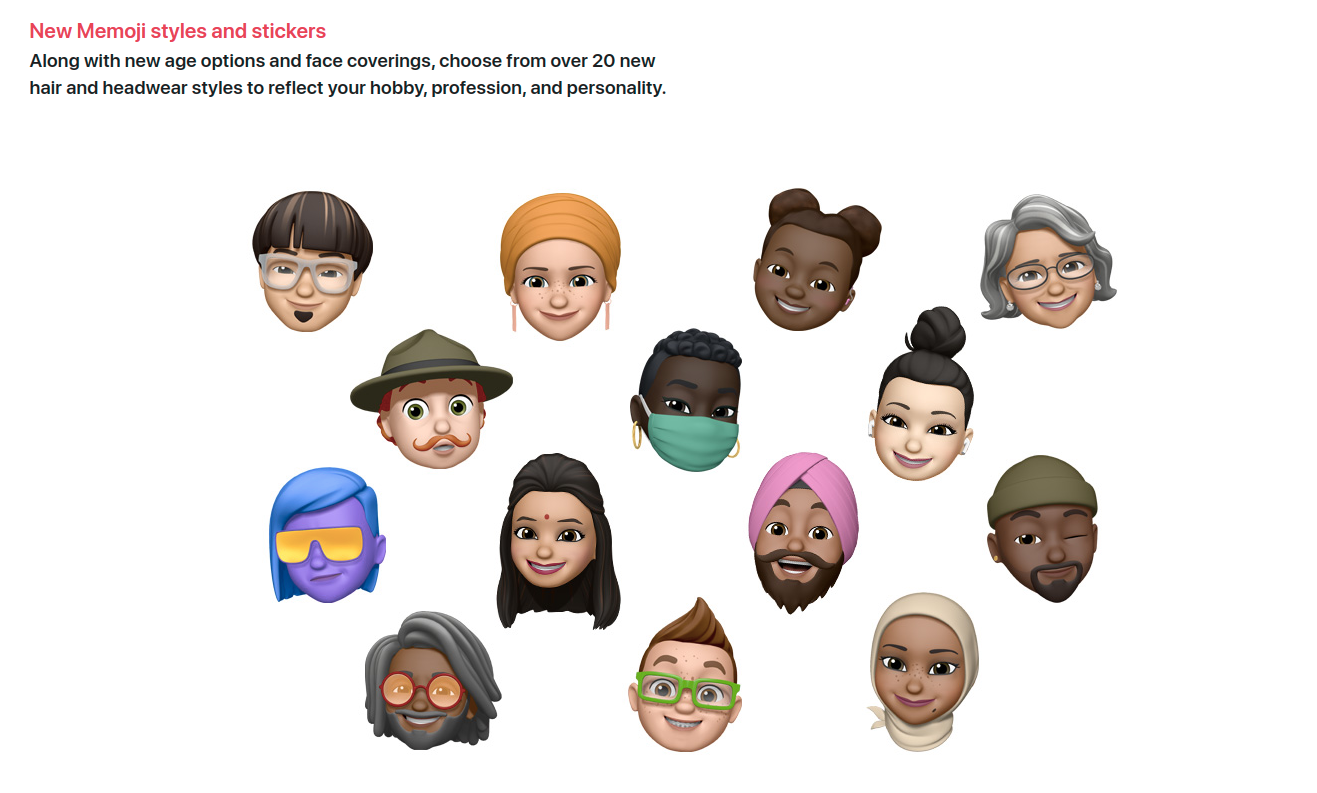 memoji styled stickers for iOS 14